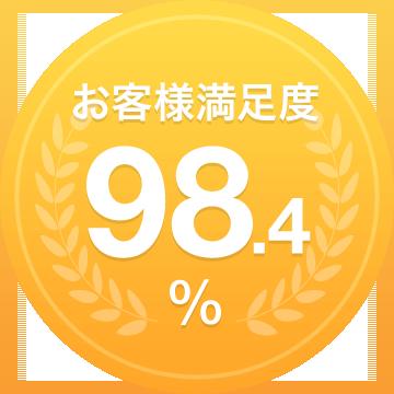 お客様満足度98,4%