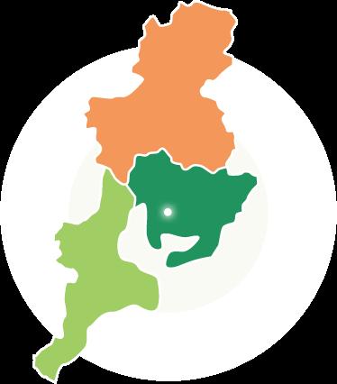 東海3県の地図